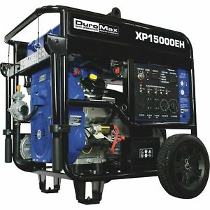Duromax Portable Dual Fuel Generator 15k Surge 12k Rated Watts Electric Start