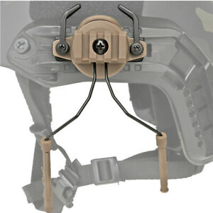 Rotary Tactical Helmet Rail Adapter Set Suspension Headset Support Holder $15.99