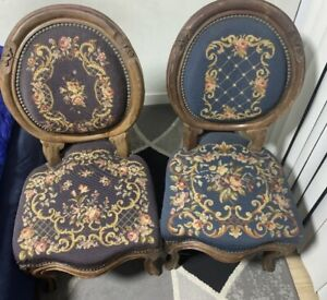 Antique French Chairs Pair
