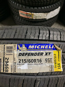 4 New 215 60 16 Michelin Defender Xt Tires