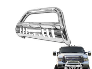 Defective For 05 07 Ford F250 F350 Bull Bar Bumper Grill Grille Guard Chrome