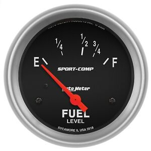 Autometer 3518 Sport comp Electric Fuel Level Gauge