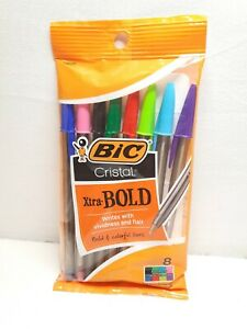 Bic 1 6 Mm Xtra Bold Pack Of 8 assorted Colors Pens New Free Shipping
