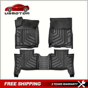 3pcs Tpe Rubber Floor Mats Liners Foot Pads For 2016 2021 Toyota Tacoma Trd