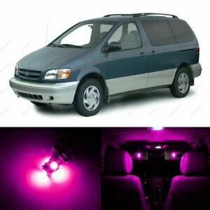 14 X Pink Led Interior Lights Package For 1998 2003 Toyota Sienna Pry Tool