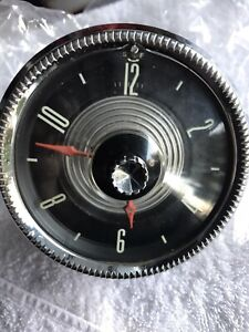 1955 Ford Fairlane Crown Victoria Skyliner Sunliner Nice Electric Dash Clock
