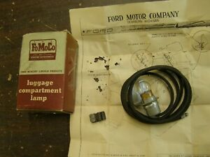 Nos Oem Ford 1949 1953 Luggage Compartment Light Lamp Kit 1950 1951 Trunk Lamp