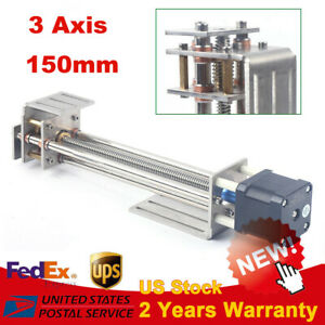 150mm Diy 3 Axis Z Axis Slide Linear Motion Milling Engraving Machine 2 phase