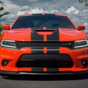 New Charger Scat Pack Rally Stripes Carbon Fiber Fits Dodge Decals Srt Hellcat