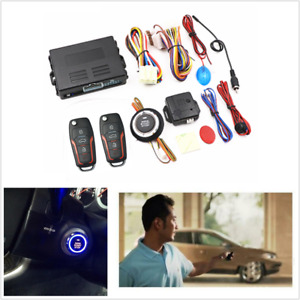 Pke Car Alarm System Keyless Entry Central Locking Push Button Engine Start Stop