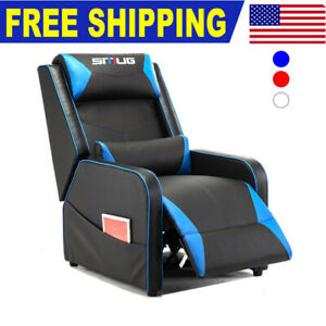 Gaming Recliner Chair Sofa Pu Leather Racing Home Theater Single Lounge Chair