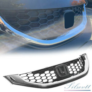 For 2013 2015 Honda Civic 4dr Sedan Front Upper Black Grill Grille Replacement