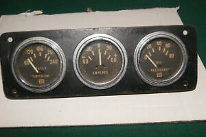 Stewart Warner Vintage Gauges 2 1 16 Used Set Of Three Sw 7
