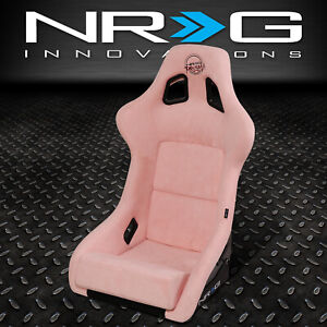 Nrg Innovations Large Fiberglass Prisma Fixed Back Full Bucket Racing Seat Pink