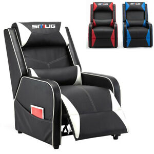 Home Gaming Recliner Chair Racing Style Single Pu Leather Sofa Living Room Chair