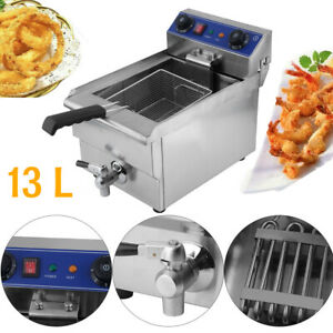 1650w Electric Deep Fryer 13 Liter Commercial Tabletop Restaurant Fry Sy