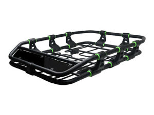Modular Hd Roof Rack Basket Storage Carrier W wind Fairing Matte Black green P04
