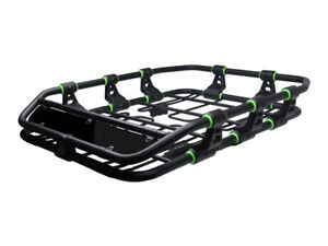 Modular Hd Roof Rack Basket Storage Carrier W wind Fairing Matte Black green P10