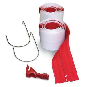 2 pack Hdaz2 3 In X 84 In Heavy duty Adhesive Zippers Includes Knife
