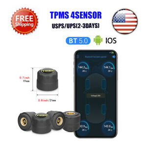 Car Tpms Bluetooth 5 0 Tire Pressure Monitoring System 4 Sensor For Android Ios