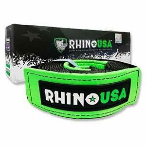 Winch Strap Tree Saver Emergency Off Road Recovery Tow Rope 3 X 8 By Rhino Usa