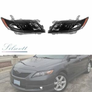 Projector Headlights Headlamp Assembly L r For 2007 2008 2009 Toyota Camry Black
