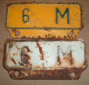 Lot Of 2 Vintage 6m License Plate Topper Tag For Ford Chevy Dodge Trucks