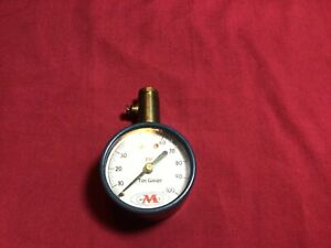 Vintage Meiser Tire Gauge Up To A 100lbs Usa