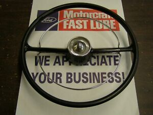Oem Ford 1951 Mercury Steering Wheel Assembly W Horn Ring Nice Monterey Custom