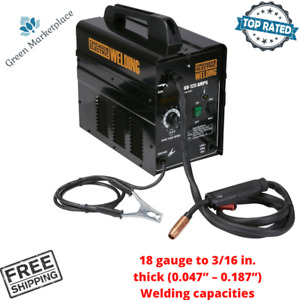 Chicago Electric Portable Flux Core Arc Welder Machine 125 Amps For Wire Welding