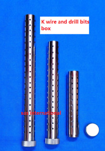 Orthopedic Instruments K wire And Drill Bit Container Kirschner Pin Sterilizatio