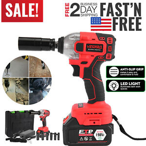 High Power Cordless Electric Impact Wrench G un 1 2 driver 330nm li ion Battery