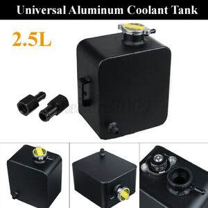 Universal 2 5l Aluminum Radiator Coolant Overflow Bottle Recovery Water Tank Us