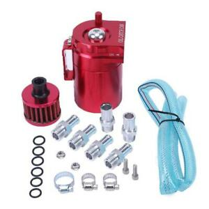 High Quality Red Cylinder Aluminum Engine Oil Catch Reservoir Breather Tank Can