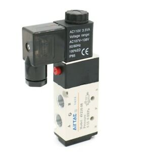 Useful The Electromagnetic Valve 2 position 4v210 08 Connector Solenoid Valve