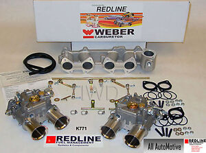 Dual 45 Dcoe Weber Kit Fits Toyota 22r 1981 1984 Pickup Genuine European Weber
