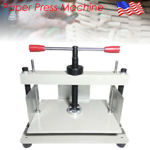 A4 Size Manual Flat Paper Press Machine For Nipping Bills books invoices New