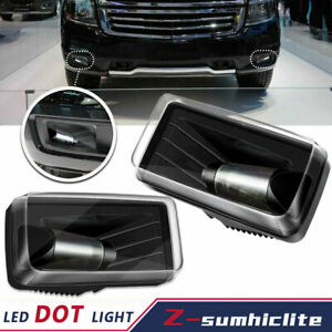 Led Fog Lights Fit For Chevy Silverado 1500 2500 3500 avalanche suburban 07 14