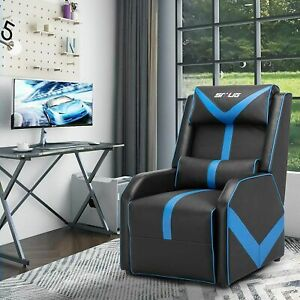 Pu Leather Gaming Recliner Chair Living Room Single Sofa Home Theater Seating