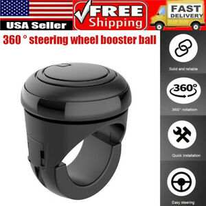 360 Car Power Steering Wheel Ball Auxiliary Knob Booster Spinner Universal Car