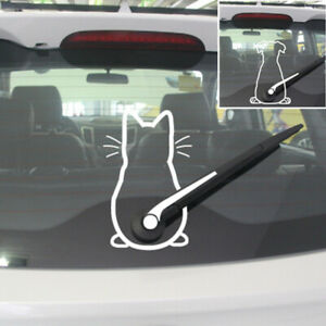 Funny Dog Cat Car Sticker Rear Window Wiper Decals Sticker