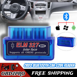 Obd2 Elm327 Bluetooth Car Code Reader Scanner Diagnostic Tool For Iphone Android