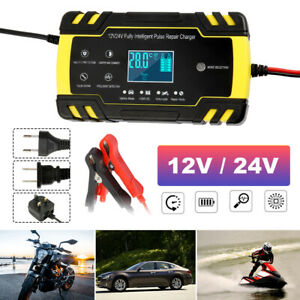 Automatic Electronic Car Battery Charger 12v 24v Fast trickle pulse Modes 8 Amp