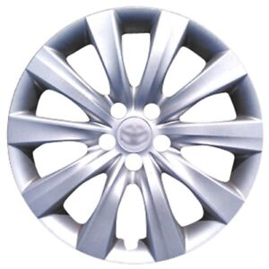 4x Silver Hubcap Will Fit Your 2011 2012 2013 2014 2015 Toyota Corolla 16