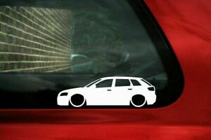 2x Lowered Car Stickers For Audi S3 A3 8p Sportback 2008 2012 L760