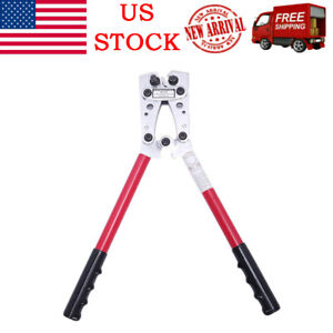 6 50mm Hydraulic Wire Battery Cable Lug Terminal Crimper Plier Crimping Tool