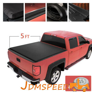 Soft Roll Up Tonneau Cover For Toyota Tacoma Double Cab 2005 2015 5ft 60 Bed