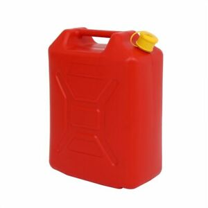 20l Gas Can Plastic Utility Jug For Storage Water Fuel Oil Petrol Diesel Red Us
