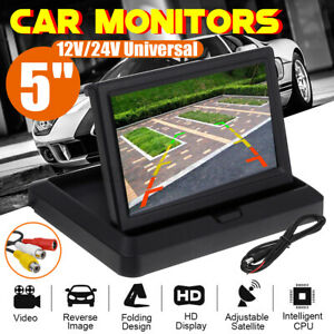 Foldable 5 Color Tft Lcd Screen Reverse Rear Monitor For Car Back Up Camera
