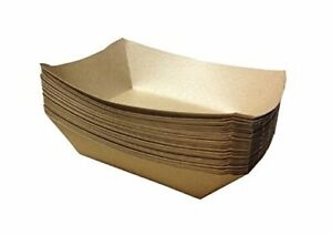Premium Brown Disposable Paper Food Serving Tray 2 5 Lb Capacity Heavy